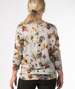 Floral Waterpaint Sweatshirt, Grey, original image number 2