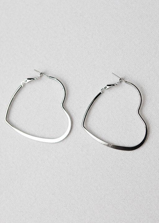 Heart Hoop Earrings, , original