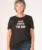 Love Saves The Day Tee, Black, original image number 0