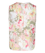 Sleeveless Floral Blouse with Accented Neckline, Sage, original image number 3
