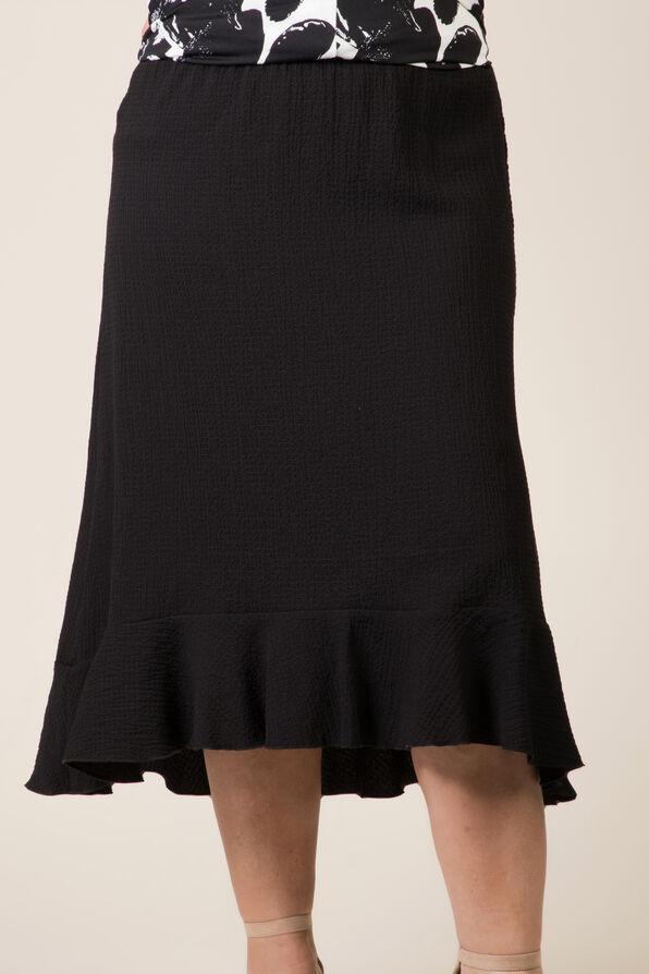 Ruffle Hi Lo Skirt, Black, original image number 0