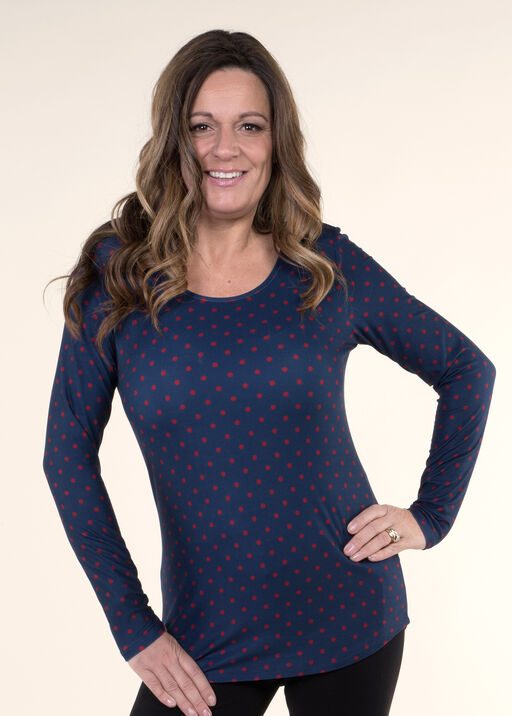 Top with Long Sleeves and Scoop neck, , original