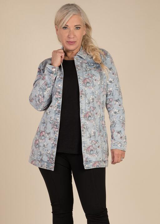 Painted Denim Maxi Jacket, , original