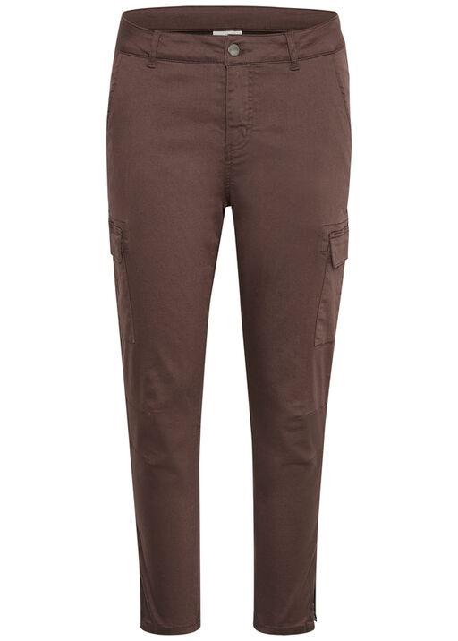 Zed-Zipper Crop Pants, Brown, original
