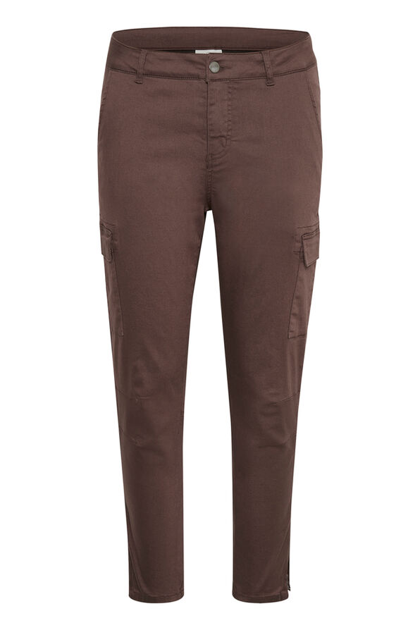 Zed-Zipper Crop Pants, Brown, original image number 0