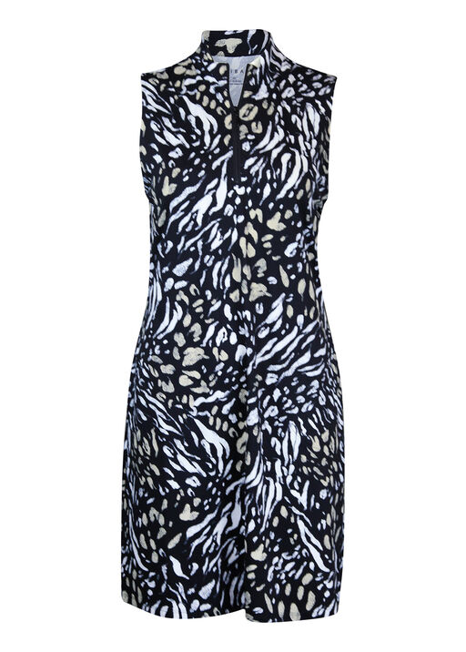 Animal Print Golf Dress with Pockets, Natural, original