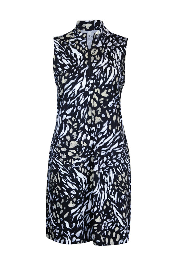 Animal Print Golf Dress with Pockets, Natural, original image number 0