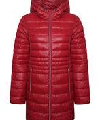 Long Slim Fit Ultralight Puffer Coat, , original image number 2