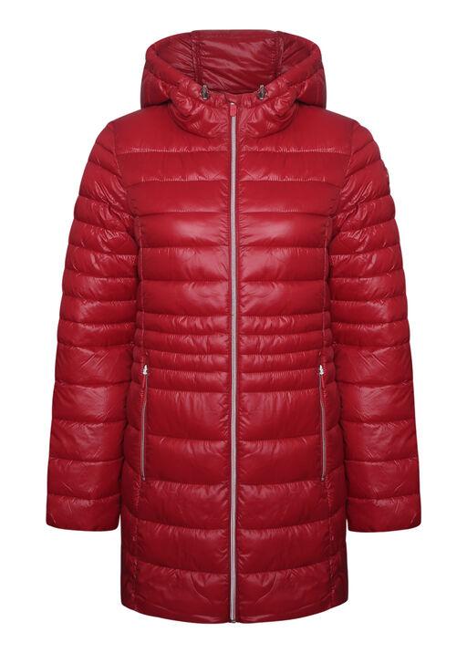 Long Slim Fit Ultralight Puffer Coat, , original