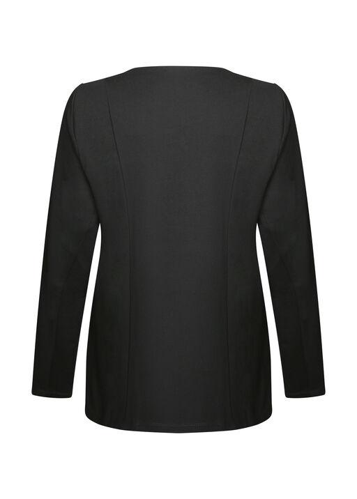 Diamond Pattern Faux Leather Jacket, Black, original