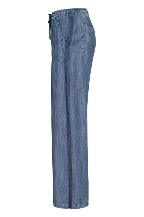 Lyocell Denim Wide Leg Pant, Denim, original image number 1
