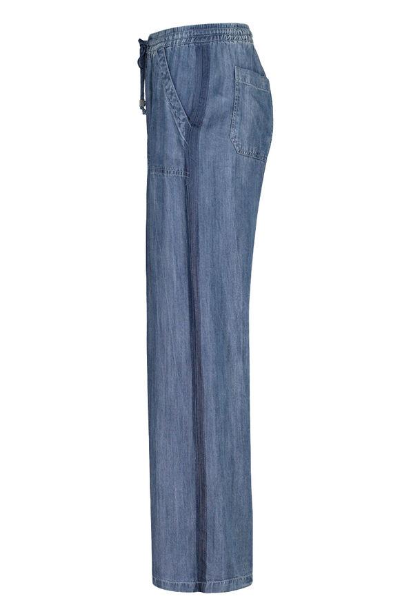 Lyocell Denim Wide Leg Pant, Denim, original image number 1