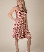 Diana Geo Print Dress, Coral, original image number 1