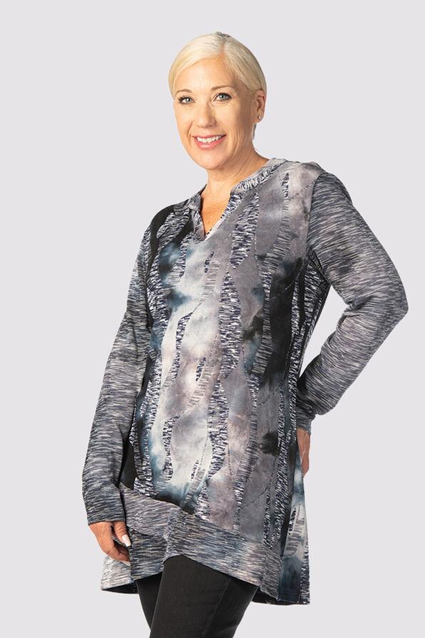 Tie-Dye Tiffany Top, Grey, original image number 1