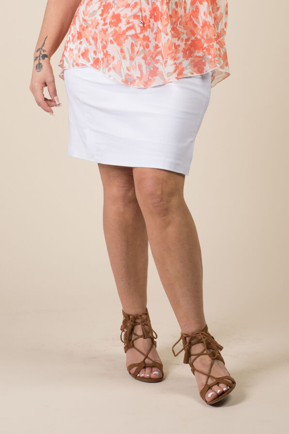 Monika Zipper Skort, White, original image number 0