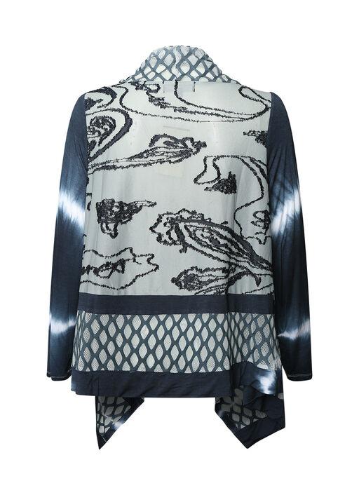 Elements Tie Dye Cardigan, Charcoal, original