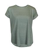 Cap Sleeve Stripe T-Shirt, , original image number 1