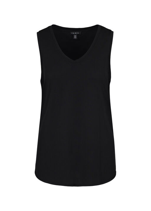Sleeveless V-Neck Hi-Lo Hem , , original
