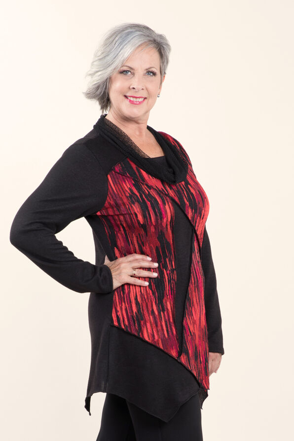 Cowl Neck Novelty Tunic , , original image number 1