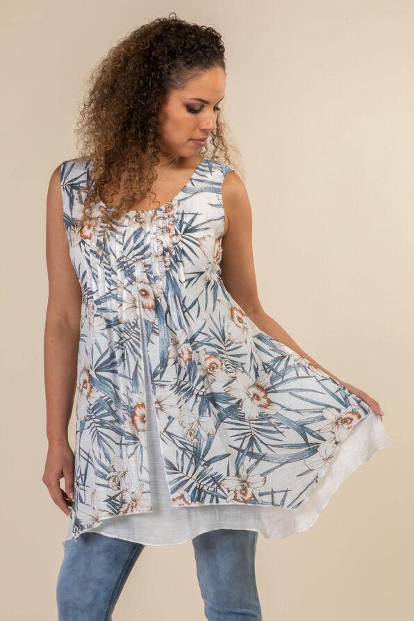 Layered Sleeveless Tunic, , original image number 1