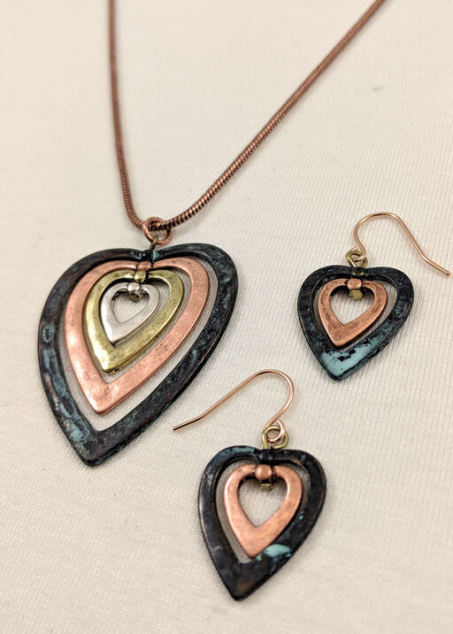 Heart Necklace and Earring Set, , original