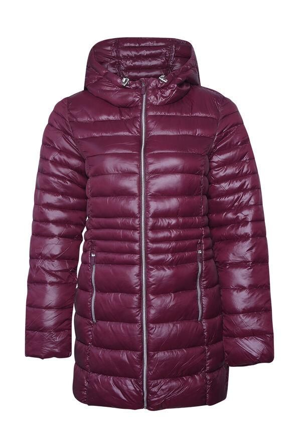 Long Slim Fit Ultralight Puffer Coat, , original image number 0