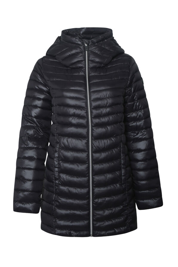 Long Slim Fit Ultralight Puffer Coat, , original image number 1