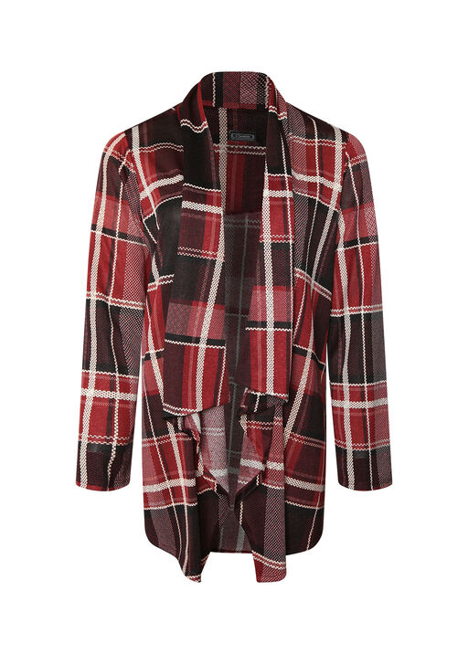 Lanie Plaid Cardigan, , original