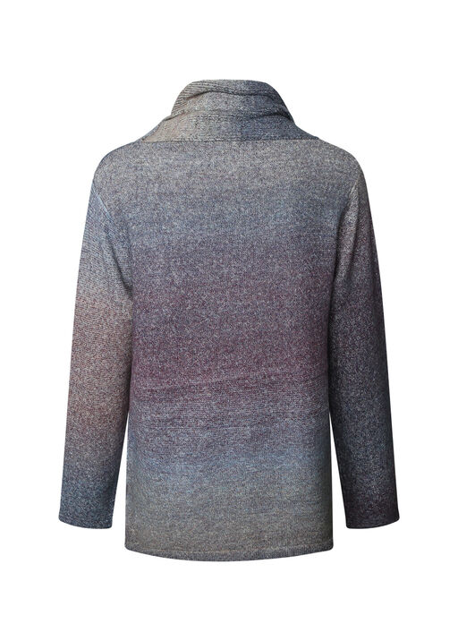 Ombre Knit Sweater with Cowl Neck, Multi, original