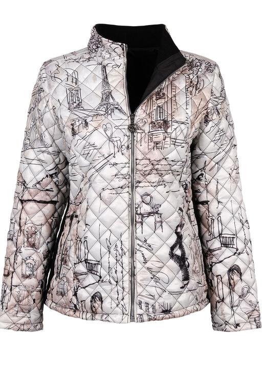 Premium Puffer Jacket, White, original