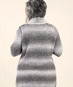 Fabulous Knit Cardigan with Pin, Black, original image number 1