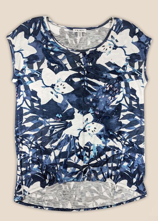 Hibiscus Garden Top, Navy, original