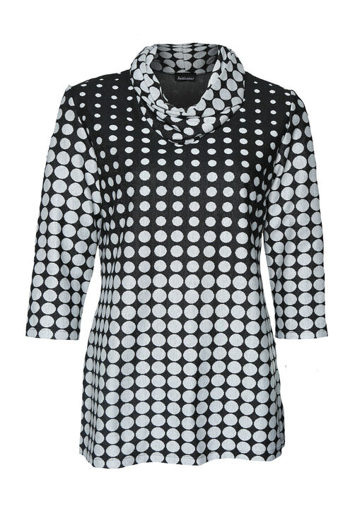 Polka Dot Sweater with Cowl Neck, , original