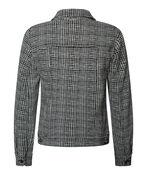 Adora Jaquard Knit Denim Style Jacket, Black, original image number 1