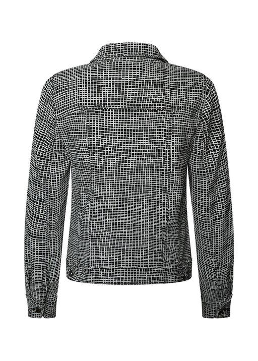 Adora Jaquard Knit Denim Style Jacket, Black, original