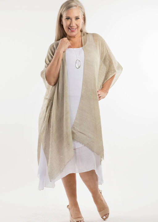 Cotton Kimono with Sequins, Sage, original
