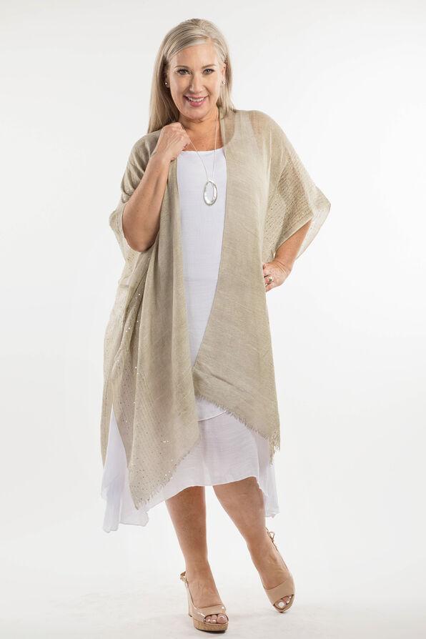 Cotton Kimono with Sequins, Sage, original image number 1