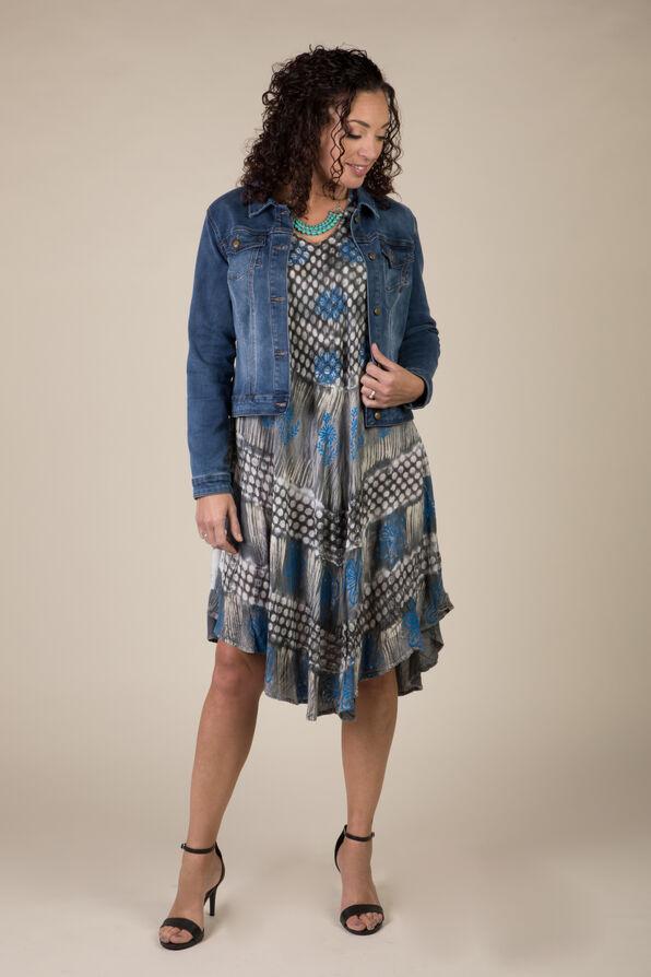 Novah Sleeveless Dress, Grey, original image number 0