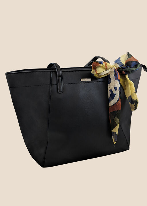 Tote with Scarf, Black, original