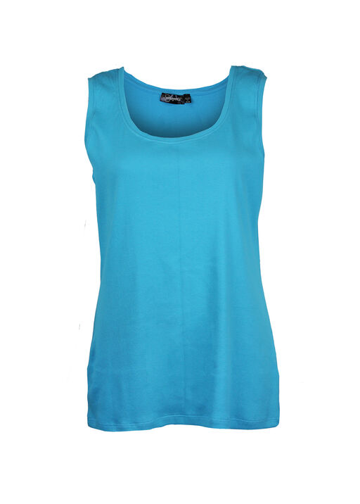 Ribbed Scoop Neck Sleeveless Top, , original