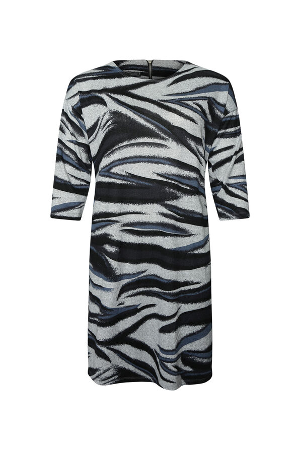 Aleta Sweater Dress 3/4 Sleeve, Indigo, original image number 0