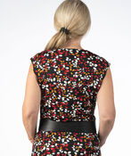 Lily Petal Cowl Neck Top, Black, original image number 2