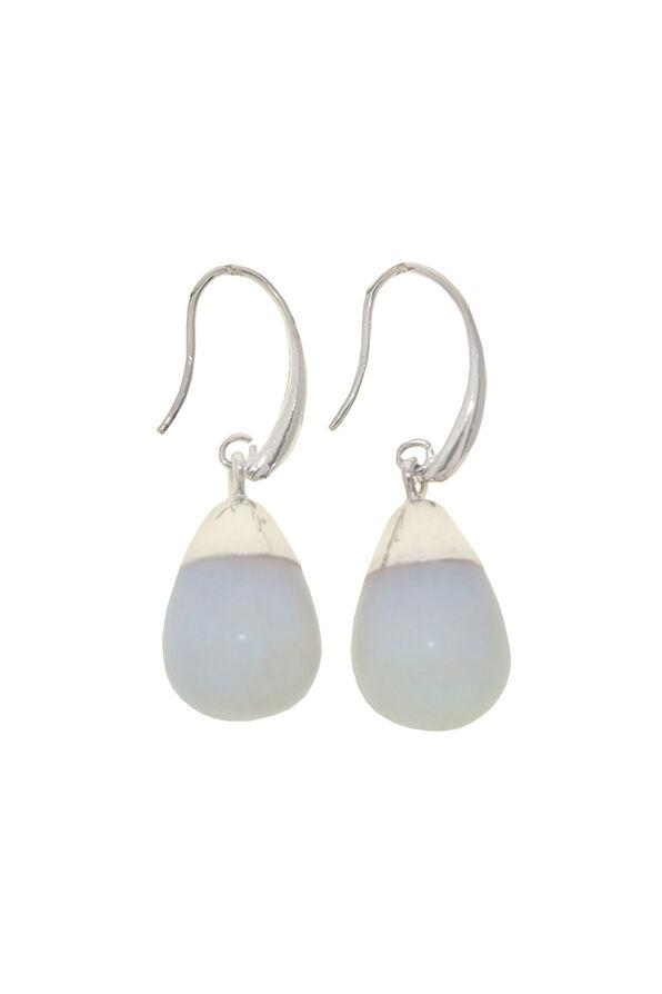 Opalesque Drop Earrings, Silver, original image number 0