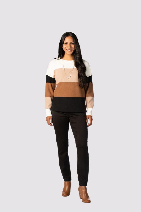 Plush Colorblock Sweater, Multi, original image number 1