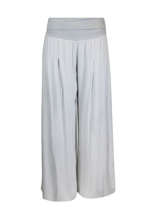 Wide Leg Ankle Pant with Fold Over Waist, , original