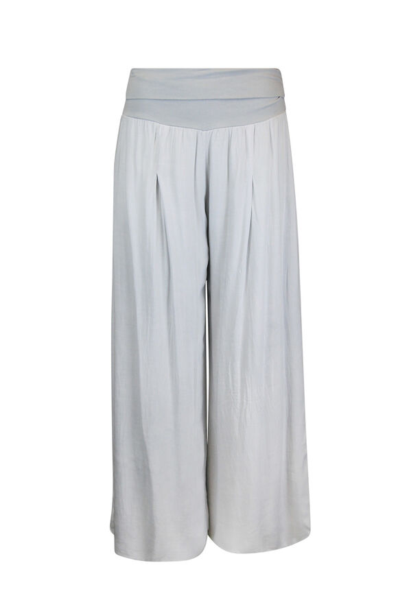 Wide Leg Ankle Pant with Fold Over Waist, , original image number 1