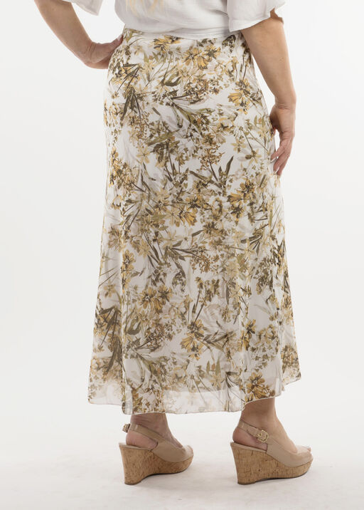 Long and Leafy Skirt, Cream, original