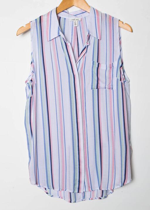 Striped Sleeveless Blouse, , original