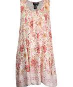 Sleeveless Pintuck Tunic, Pink, original image number 0