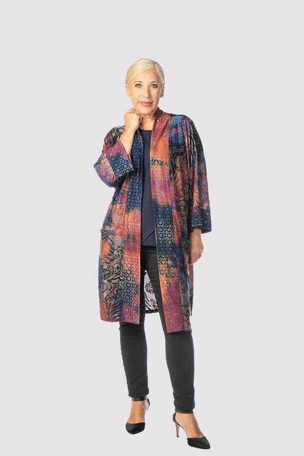 Vintage Velvet Kimono Cardi, Multi, original image number 0